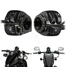 """2x 1"""" Handlebar Control Switches & Wiring Harness for Harley Sportster 25mm"""