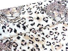 Stoffe Baumwolle mit Elasthan Gabardine Druck Tiger Leopard Muster Meterware