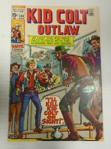 Marvel KID COLT OUTLAW #144 (1970) Western, Stan Lee, Jack Keller, Joe Maneely