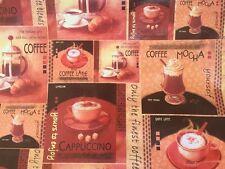 Tovaglia di plastica per tavolo cm 140x200 -50% color marrone con caffè