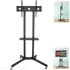 VIVO TV Cart For LCD LED Plasma Flat Panel Stand Wheels Mobile fits 32 To 65In