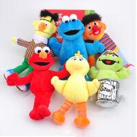 "6PCS Sesame Street Cookie Monster Plush Toy Soft Doll 5""-7"" Kid Christmas Gift"