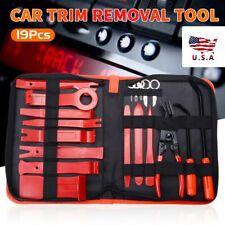 19pc Car Trim Removal Molding Tool Kit Panel Door Pry Dash Interior Clip Set US