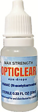 2 PACK 20% OFF  Opticlear Max with 4% NAC & Colloidal Silver 10ml free shipping!