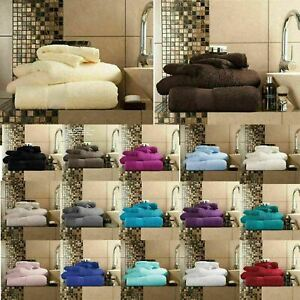 Luxury Miami 100% Egyptian Cotton Pack Of 2 Hand Towels 650 GSM Soft Absorbent
