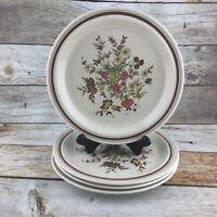 Vintage ROYAL DOULTON  Salad Dessert Plates GAIETY Brown LS1014 England Set 4