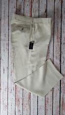 Mens Brewin & Brewin Daniel Hechter Cream Silk Linen Mix Tailored Trousers - 40L