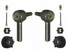 For Jeep CJ7 Dodge P200 Pair Set of 2 Front Outer Steering Tie Rod Ends ES140R
