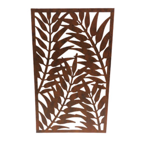 Rusty Effect Metal Garden Wall Panel for Decoration or Screen