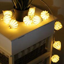 10er LED Lichterkette mit Lampions batteriebetrieb Lichterdeko für Innen