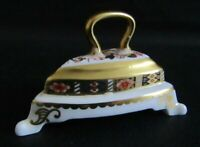 ROYAL CROWN DERBY IMARI MINIATURE FLAT IRON ON STAND - 1997 - EXCELLENT COND