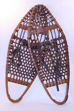 Rare NOS VTG Antique Snow Shoes Snowshoes Jos. Brown New York Primitive Wood HTF