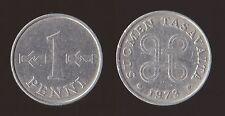 FINLANDIA 1 PENNI 1973 SUOMEN TASAVALTA