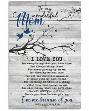 To My Mom Poster Art Print From Daughter I Am Me Because Of You