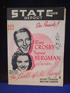 Bing Crosby & Ingrid Bergman Theatre Herald For The Bells Of St. Mary's  + More