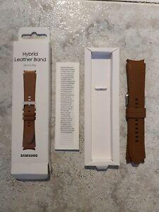 Samsung Correa Hybrid Leather para Galaxy Watch4/Watch4 Classic - Marrón, M/L