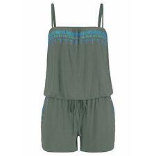 Women Holiday Strap BOHO Mini Playsuit Romper Summer Shorts Jumpsuit Beach Dress