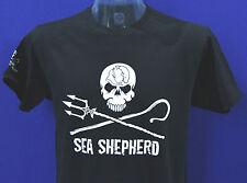 New to eBay Unisex Sea Shepherd Jolly Roger Front large Logo Black T-shirt