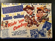RIDE 'EM COWBOY 1942 MOVIE HERALD - ABBOTT AND COSTELLO