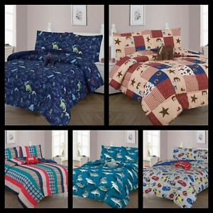 Boys Girl Kids Teens Twin/Full Comforter Bedroom Reversible Complete Set 6/8 pc