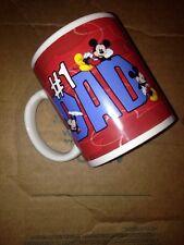 Disneyland Mug Cup Coffee Mickey #1 Dad Father Retro Tea Walt Disney World