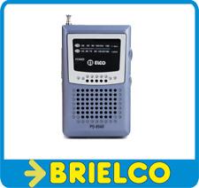 RADIO BOLSILLO ALTAVOZ AM/FM MINI ELCO 86x52MM ANTENA TELESCOPICA PINZA BD5298
