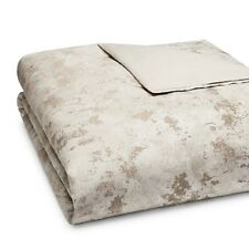 NEW Hudson Park Pietra Champagne QUEEN Duvet Cover MSRP $355 - GORGEOUS!