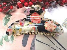 High Quality Japanese Style Hair Claw Clip Accessories Floral Black 'GEISHA'