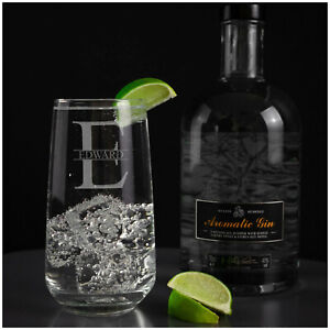 Personalised Engraved Perfect Highball Tumbler Glass, Tall Etched Glassware Gift