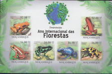 REP149 - REPTILES AMPHIBIANS MOZAMBIQUE 2011 FROGS IMPERF SHEET MNH