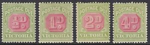 VICTORIA - POSTAGE DUE 1905-09 SET MINT, CAT £48