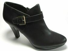 BRAND NEW EAST 5TH Size 10M Shiny Black Gold High Heel Ankle Booties Boots