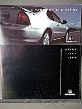 HONDA RANGE BROCHURE Includes NSX & CRX 1994 -PLUS Price List