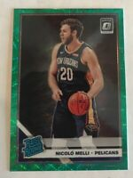 2019-20 Optic Fanatics NICOLO MELLI Prizm Green Wave SP RC RATED ROOKIE