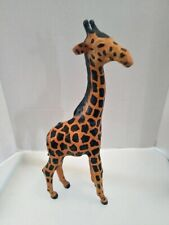 (6617) Vintage Giraffe Leather Wrapped 17.25�