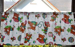 - 54 - Bären Bärchen Tiere Bär -  Kinderzimmer Scheibengardine Gardinen