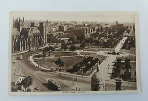 Vintage  Circa 1920`s  Hyde  Park  Sydney Australia  Postcard