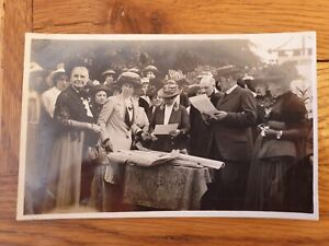Westwood Hall Leek - Prize giving by Lydia Wardle - Old Real Photo Postcard 344