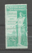 Belgium/Brussels 1897 International Exposition poster stamp/label stamp