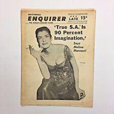 Vintage National Enquirer Tabloid August 1960 Melina Mercouri Casey Stengel
