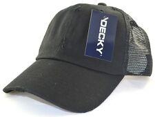DECKY Vintage Mesh Caps Baseball Cap Hat-black