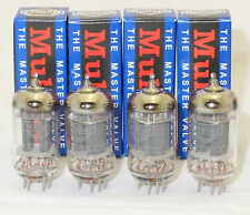 Mullard QUAD 4x NEW NIB  12ax7 ECC83 Long plates tubes - New