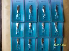 12 LURES SILVER Snapper Zapper Spoon GREAT ACTION 1/12 oz FREE USA SHIPPING