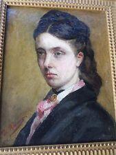 Tableau/Huile-XIXe-Portrait FEMME-La famille Poniatowski-noblesse polonaise-oil