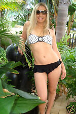 AUTHENTIC VICTORIA`S SECRET Polka Dot Bikini  # White / Black Sz XS