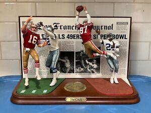 "Danbury Mint  -  San Francisco 49ers  vs  Dallas Cowboys ........... ""The Catch"""