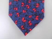 "TALLIA $75 MEN Blue Floral Skinny WIDTH 3"" CASUAL DRESS NECK TIE 100% Cotton S12"