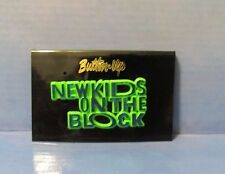 New Kids On The Block Nkotb Tour Pin Blue Green Tone Pinback Vintage 1989