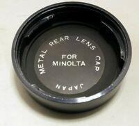 Metal Rear Lens Cap for for Minolta SR MC MD manual focus lenses twist on type