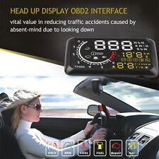 "5.5"" Universal Car HUD Head Up EU-OBD OBD2 Speed KM/h MPH RPM Display System"